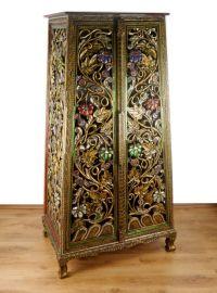 Großer Glasmosaikschrank mit Blumenmuster, Nr.89