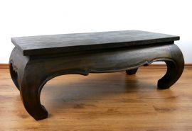 Opiumtisch, länglich, 100cmx 50cm, schwarz-braun
