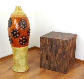 Vase aus Ton Bonbon, Bodenvase aus Java (Indonesien)